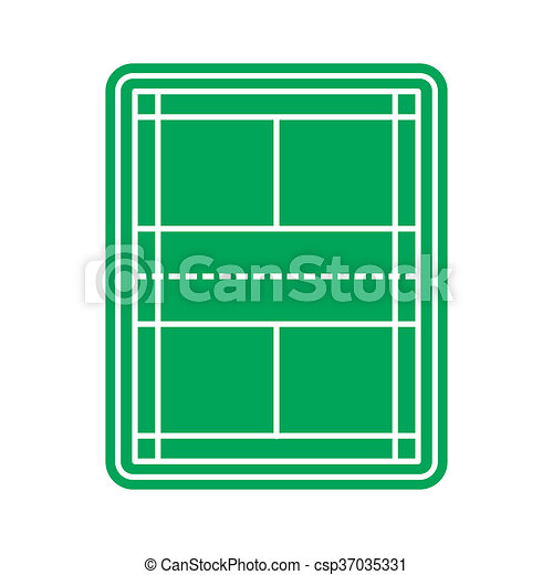 tennis court icon in flat style isolated on white background rh canstockphoto com
