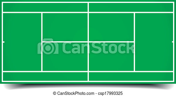 tennis court  - csp17993325