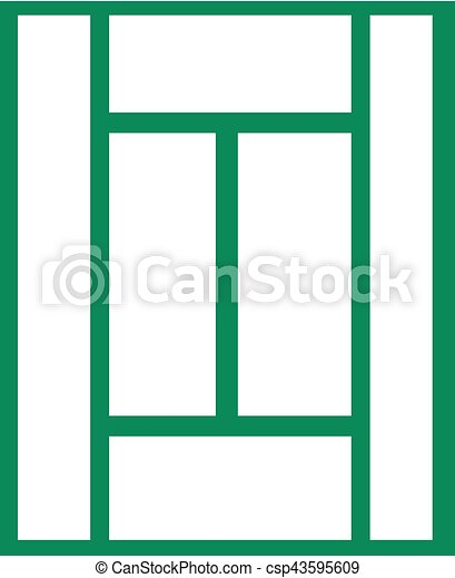tennis court outline rh canstockphoto com tennis court clipart black and white tennis court clipart black and white