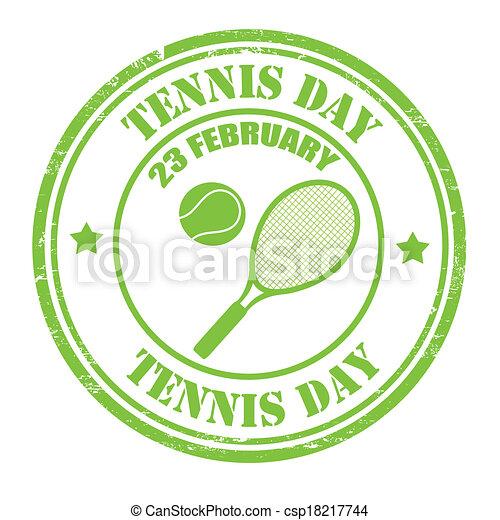 Tennis Day stamp - csp18217744
