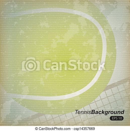 tennis design - csp14357669