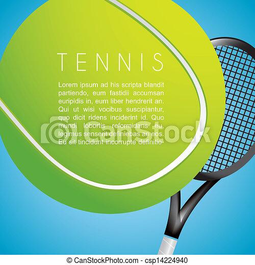 tennis design - csp14224940