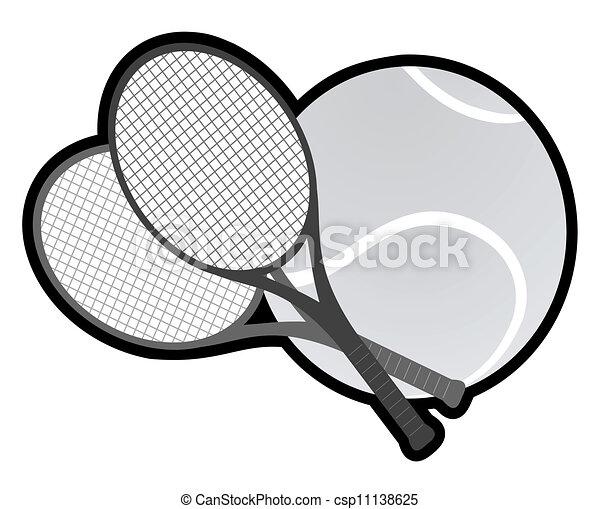 tennis, grijze  - csp11138625