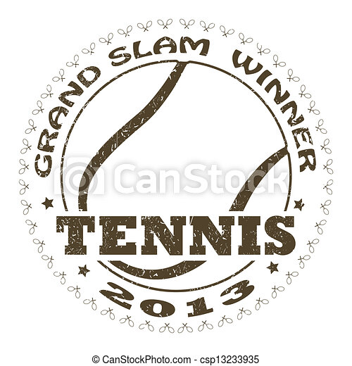 tennis label - csp13233935