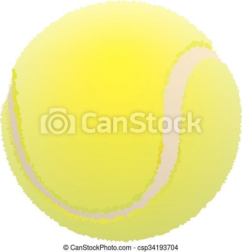 tennis, pelouse, balle, ball. - csp34193704