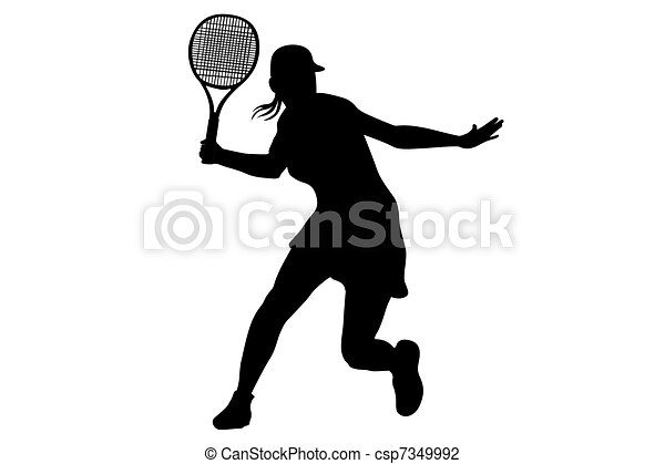 tennis player - csp7349992