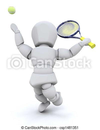 Tennis player - csp1481351