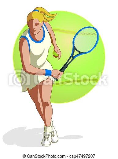 tennis player female - csp47497207