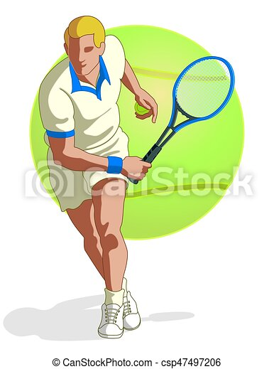 tennis player male - csp47497206