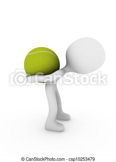 tennis player - csp10253479