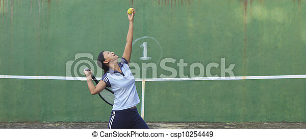 Tennis Player - csp10254449