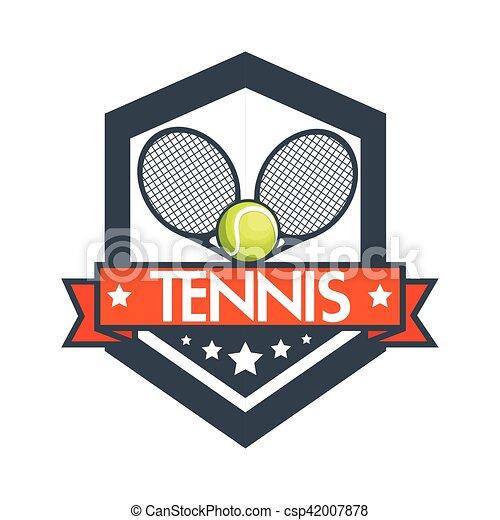 Tennis Racket Balls Banner Design Vector Illustration Eps 10