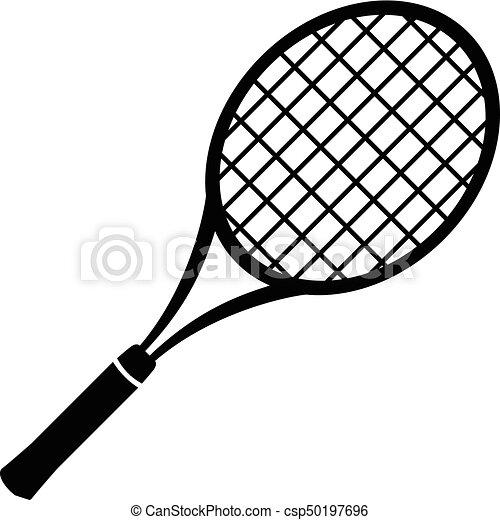 Tennis Racket Icon Simple Black Style Tennis Racket Icon Simple