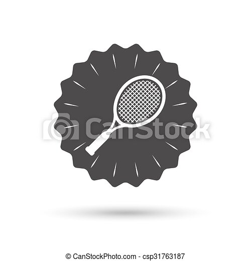 Tennis racket sign icon. Sport symbol. - csp31763187