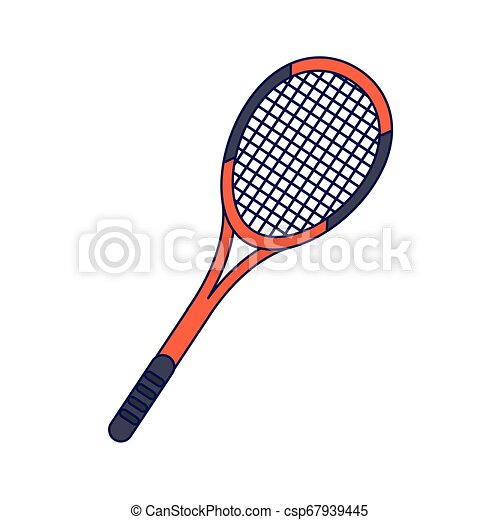 Tennis Racket Sport Cartoon Isolated Blue Lines Tennis Racket Sport Cartoon Isolated Vector Illustration Graphic Design Canstock