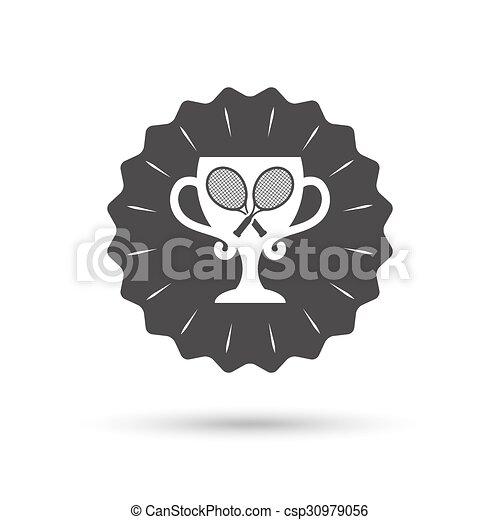 Tennis rackets sign icon. Sport symbol. - csp30979056
