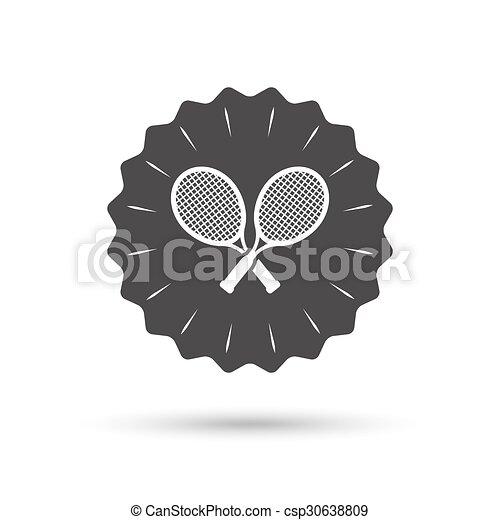 Tennis rackets sign icon. Sport symbol. - csp30638809