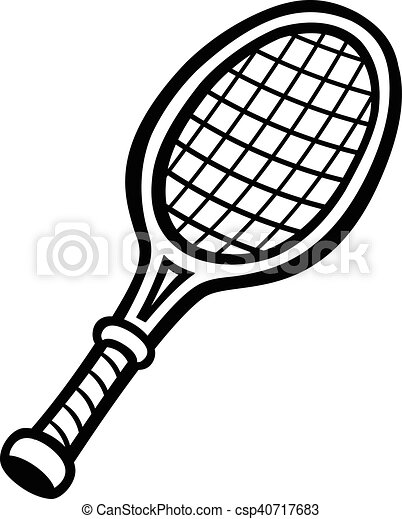tennis racquet illustrations and clip art 2 932 tennis racquet rh canstockphoto com tennis racquet clipart tennis racket clipart