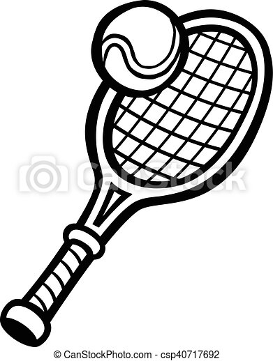 tennis racquet tennis ball eps vectors search clip art rh canstockphoto com tennis racket clipart free tennis racquet clipart free