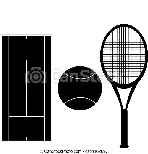 Incredible Tennis Silhouettes Set Of Tennis Silhouettes With Court Diagram Wiring Database Cominyuccorg