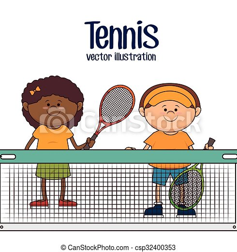 Tennis Girl Play Child Clip Art - Playing Tennis Clipart Png, Transparent  Png - kindpng