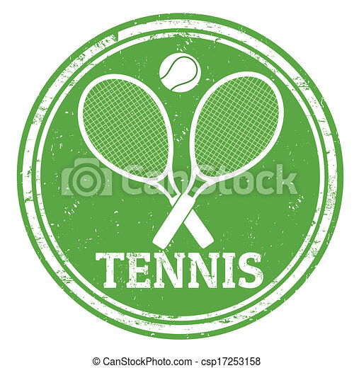 Tennis stamp - csp17253158