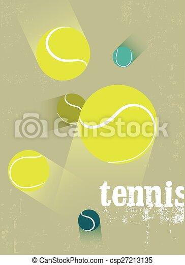 Tennis vintage grunge style poster. - csp27213135