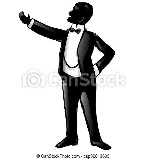 tenor opera singer silhouette isolated on white background vector rh canstockphoto com Singer Graphics Singer Clip Art