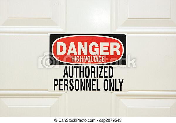 tension, danger, élevé - csp2079543