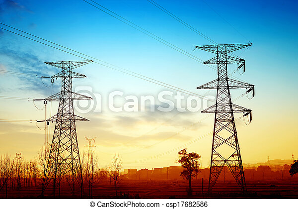 tension, poste, élevé - csp17682586