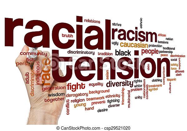 tension, racial, mot, nuage - csp29521020