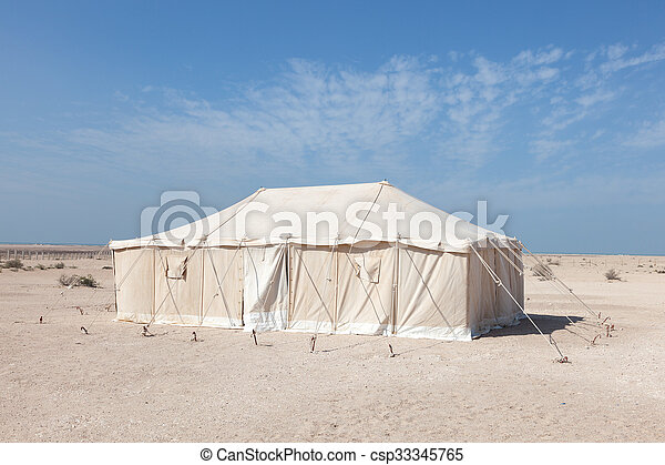 Tent In Qatar Middle East Stock Photo & Tent in qatar middle east. Bedouin tent in the desert of... stock ...