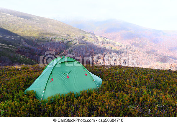 Tent On Autumn Mountains Stock Photo & Tent on autumn mountains. carpathians ukraine europe stock ...