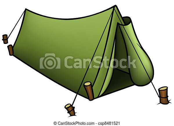 ... Tent - Colored Cartoon Illustration Vector  sc 1 st  Can Stock Photo & Tent Illustrations and Clip Art. 26685 Tent royalty free ...