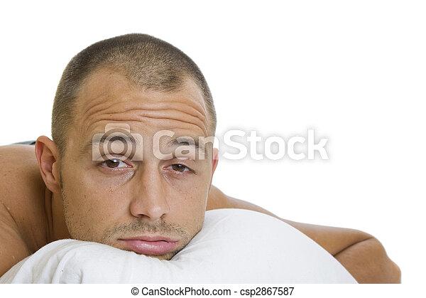 tentando, sono, homem - csp2867587