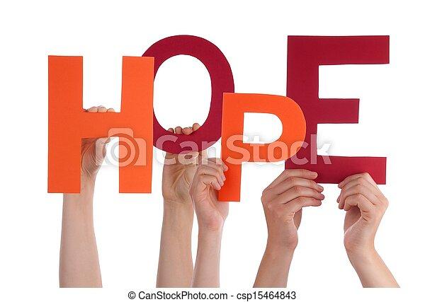 tenue, espoir, mains - csp15464843