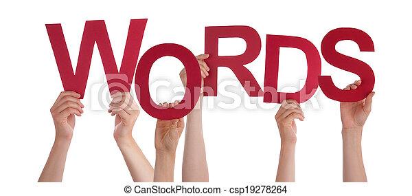 tenue, mots, mains - csp19278264