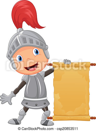 tenue, vide, dessin animé, garçon, chevalier - csp20853511