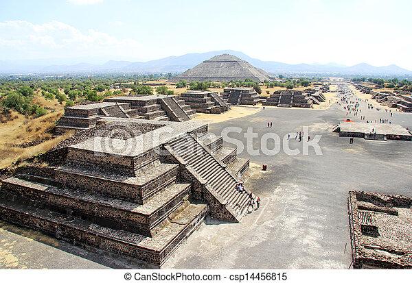 teotihuacan, メキシコ\ - csp14456815