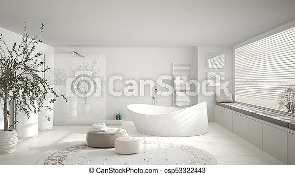 Teppich, badezimmer, klassisch, groß, modern, groß ...
