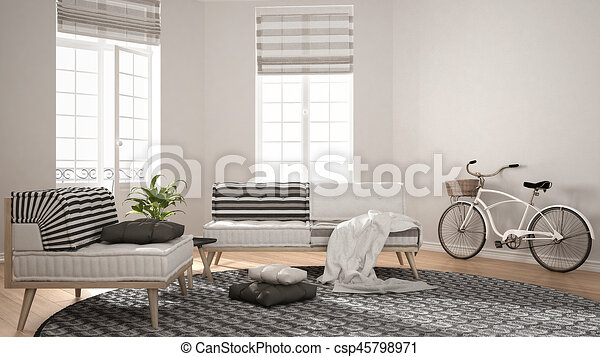 teppich wohnzimmer minimalist sessel modern sofa stock illustrationen suche eps. Black Bedroom Furniture Sets. Home Design Ideas