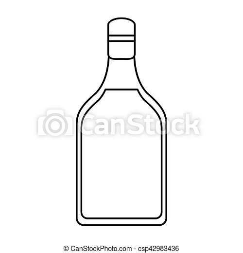 tequila, bevanda, contorno, bottiglia, alcolico - csp42983436