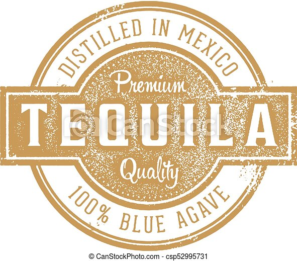 Tequila Cocktail Rubber Stamp - csp52995731