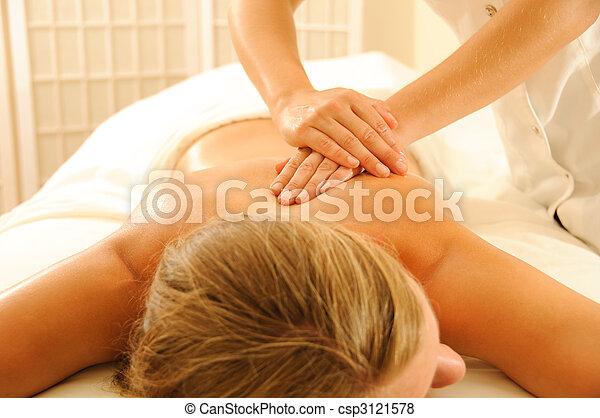 terapia, massagem - csp3121578