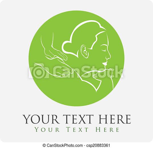 terapia, massaggio - csp20883361