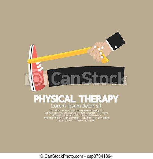 Vector de terapia física. - csp37341894