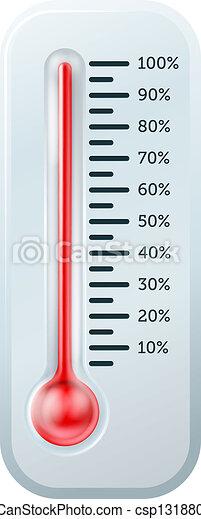 Ilustración termómetro - csp13188094