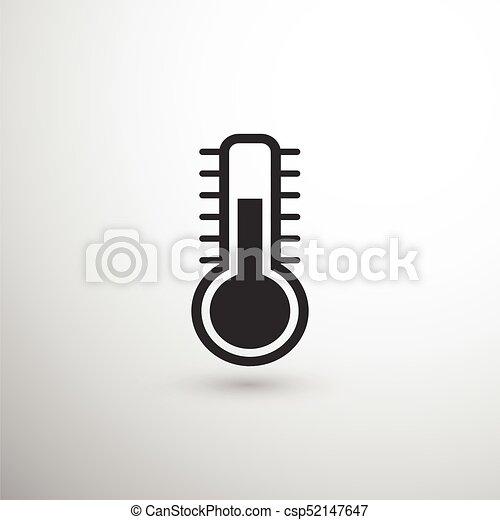 El Icono Negro Termometro Un Icono Negro Termometro Sobre Fondo Ligero Con Sombra Canstock Descarga gratis este icono de esquema termómetro negro y descubre más de 9 millones de recursos gráficos en freepik. can stock photo