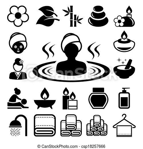 terme, set, icone - csp18257666
