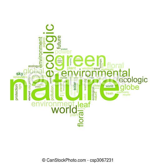 termijnen, zoals, natur, illustratie, milieu, of - csp3067231